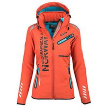 Geographical Norway Damen Softshell Funktions Outdoor Regen Jacke Sport [GeNo-24-Orange-Gr.XL]