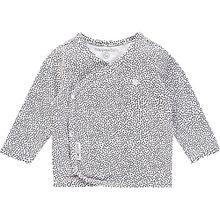 Baby Langarmshirt, Organic Cotton schwarz/weiß
