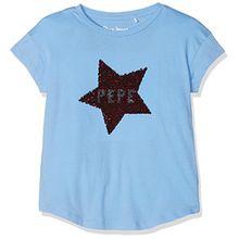 Pepe Jeans Mädchen T-Shirt Julieta Jr, Blau (Bleu Summer Blue), 14 Jahre (Herstellergröße: 14)