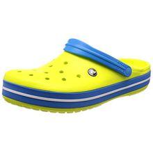 Crocs Unisex-Erwachsene Crocband Clogs, Gr.-41/42 EU, Tennis Ball Green-ocean (11016-73e)