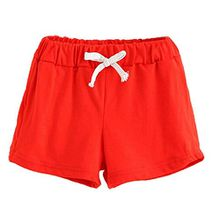 Amcool Kinder Sommer Baumwolle Kurze Hose Baby Mode Hose (100, Rot)