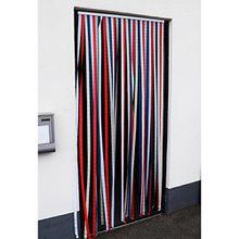 Türvorhang Insektenschutz Insektenschutzvorhang Tür Vorhang Fliegengitter Lamellenvorhang Polyester - selbstklebend 210x90 cm