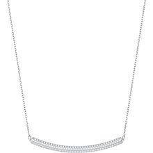 Stone Halsband, weiss, rhodiniert