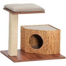 SILVIO DESIGN Kratzbaum »Wohnboy Loom«, B/T/H: 60/36/54 cm, walnussdekor/sandfarben