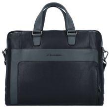 Piquadro Feels Aktentasche Leder 42 cm Laptopfach schwarz