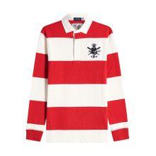 Polo Ralph Lauren Gestreiftes Poloshirt aus Baumwolle mit Patch
