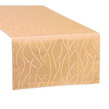 Tischläufer, FARBE wählbar, Streifen Tischband, einfach genäht, ECKIG 30x100 cm, Orange, Beautex
