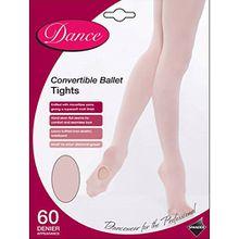 Weiche Convertible Ballett Strumpfhose. Farbe Ballett-Rosa, Größe Medium