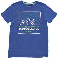O'NEILL T-Shirt 'LB POWDERDAYS S/SLV T-SHIRT' blau