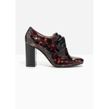 Patent Leather Pumps - Brown