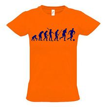 FUSSBALL Evolution Kinder T-Shirt orange-navy, Gr.152cm