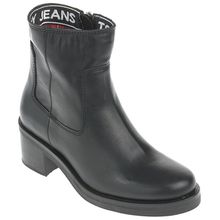 Tommy Jeans Boots - ESSENTIAL LEATHER BIKER BOOT schwarz