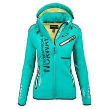 Geographical Norway Damen Softshell Funktions Outdoor Regen Jacke Sport [GeNo-24-Grün-Gr.XL]