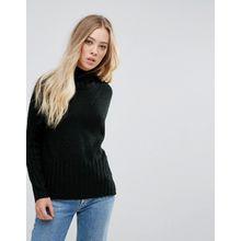 b.Young - Klassischer Pullover mit hohem Kragen - Schwarz