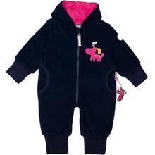 SIGIKID Baby Fleeceoverall für Mädchen dunkelblau