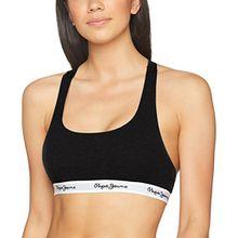 Pepe Jeans Underwear Damen Unterhemd Dixie Schwarz (Bk-Black 999 Bk), M