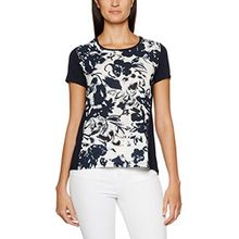 Betty Barclay Damen T-Shirts 4702/0595, Mehrfarbig (Dark Blue/Cream 8813), 42