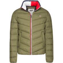 Tommy Jeans Steppjacke 'TJM Essential Puffer Jacket' khaki / feuerrot