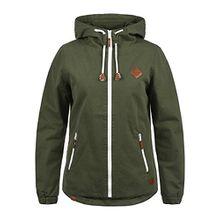 Blend She Bibi Damen Übergangsjacke Jacke Mit Kapuze Aus 100% Baumwolle, Größe:XS, Farbe:Dusty Green (70595)