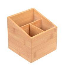 GRÄWE® Bambus-Box 3 Fächer natur