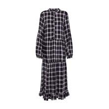 VILA Kleid 'VIKALLIE L/S DRESS' schwarz / weiß