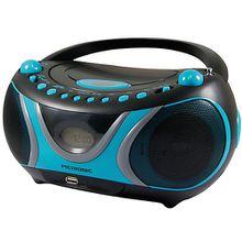 """CD-Player Boombox mit USB/MP3/Radio """"Sportsmann"""" schwarz/blau"""