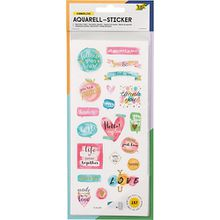 Aquarell-Sticker, 157 Sticker