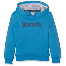 Bench Jungen Sweatshirt Core Hooded Sweat, Blau (Mid Blue BL164), 128 (Herstellergröße: 7-8)