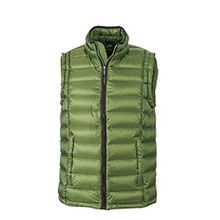 James & Nicholson Herren Jacke Weste Men's Quilted Vest grün (Jungle Green/Black) XX-Large