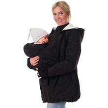 Divita 3in1 Tragejacke Umstandsjacke Softshell gefüttert Mama Baby D49 (S/M (36/38), Schwarz)