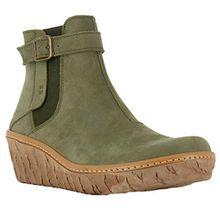 El Naturalista Womens N5133 Myth Yggdrasil Kaki Leather Boots 38 EU