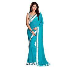 Indien KLleidung Damen Designer Sari mit Ungesteckt Bluse/Top Mirchi Fashion Bollywood Hochzeit Saree