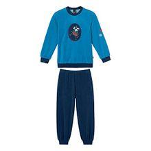 Schiesser Jungen Zweiteiliger Schlafanzug Kn Lang, Gr. 104, Blau (aquarium 813)