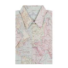 Slim Fit Freizeithemd aus Bio-Baumwolle Modell 'Map'