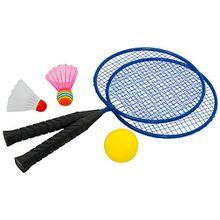 Badmintonset Fun blau