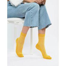 ASOS DESIGN - Einfarbige gerippte Söckchen - Gelb