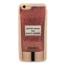 Iphoria Pink Glitter Cream Liquid Case für Iphone 7