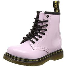 Dr. Martens Unisex-Kinder Brooklee Kurzschaft Stiefel, Pink (Baby Pink Patent Lamper), 24 EU