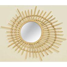 Rattan Spiegel 75x60 cm beige