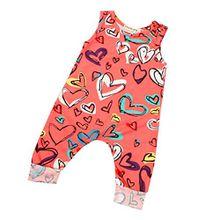 Covermason Neugeborene Baby Mädchen Ärmellos Jumpsuit Overalls (80(6-9 Monate), Rot)