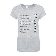 Rock Angel Damen T-Shirt mit Mickey Mouse Print | Leichtes Baumwoll Shirt mit Statement Aufdruck Light-Grey M