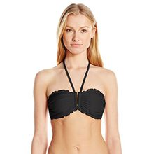 Seafolly Damen Shimmer DD U Tube Bikinioberteile,per pack Schwarz (Black),40 (Herstellergröße:14)