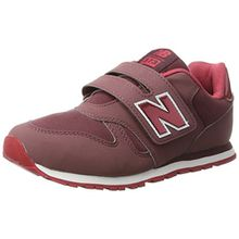New Balance Unisex-Kinder Sneaker, Pink (Dark Pink/Red), 35 EU (2.5 UK)