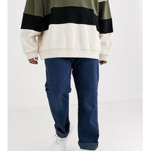 Levi's – Big & Tall – 501 Original – Gerade geschnittene Jeans mit normalhohem Bund in dunkler Ironwood Overdye-Waschung-Blau