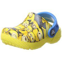 crocs Fun Lab Minion Graphic, Unisex - Kinder Clogs, Gelb (Sunshine), 19/20 EU