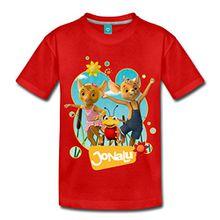 Spreadshirt JoNaLu Jo Naya Und Lu Tanzen Auf Der Wiese Kinder Premium T-Shirt, 110/116 (4 Jahre), Rot