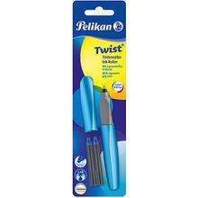 Tintenroller Twist R457 Frosted Blue, inkl. 2 Rollerpatronen blau