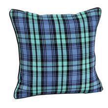 Homescapes dekorative Kissenhülle Blackwatch Tartan, 45 x 45 cm, Kissenbezug mit Reißverschluss aus 100% reiner Baumwolle