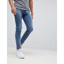 Only & Sons - Skinny-Jeans in verwaschenem Blau - Blau