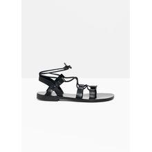 Strappy Gladiator Sandals - Black